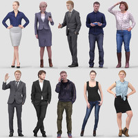 3D Human Model Vol 2. Standing People