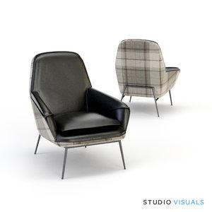 hug armchair 3d model