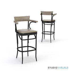 3d model bar stool 04