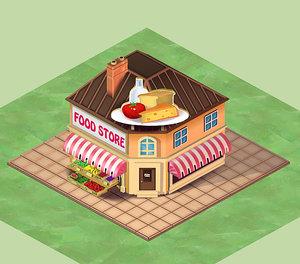 3d cartoon house toon home