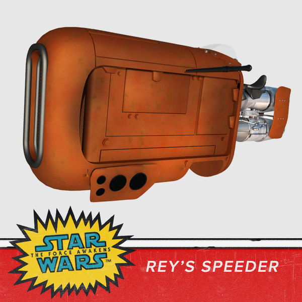 3d model speeder bike rey star