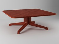 table coffee wood 3d model