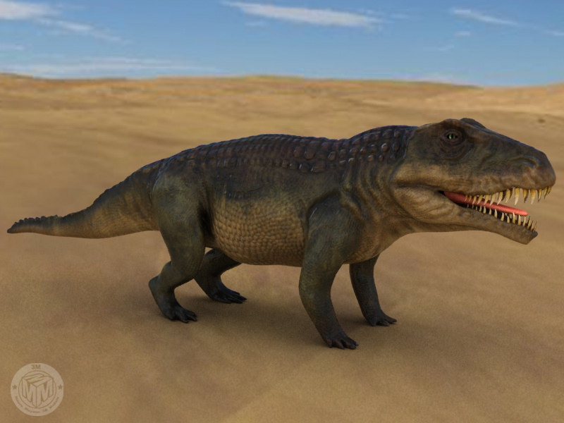 3ds max extinct triassic reptile