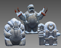 free aztecs idol 3d model