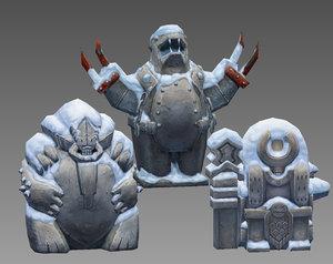 aztecs idol 3d model