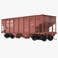 3d model hopper car generic