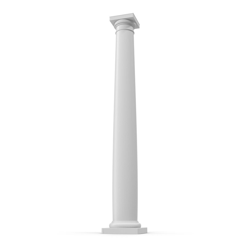 smooth modern column capital 3d obj