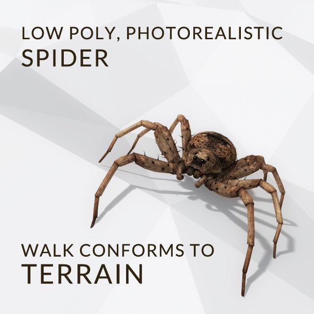 3d model spider walk