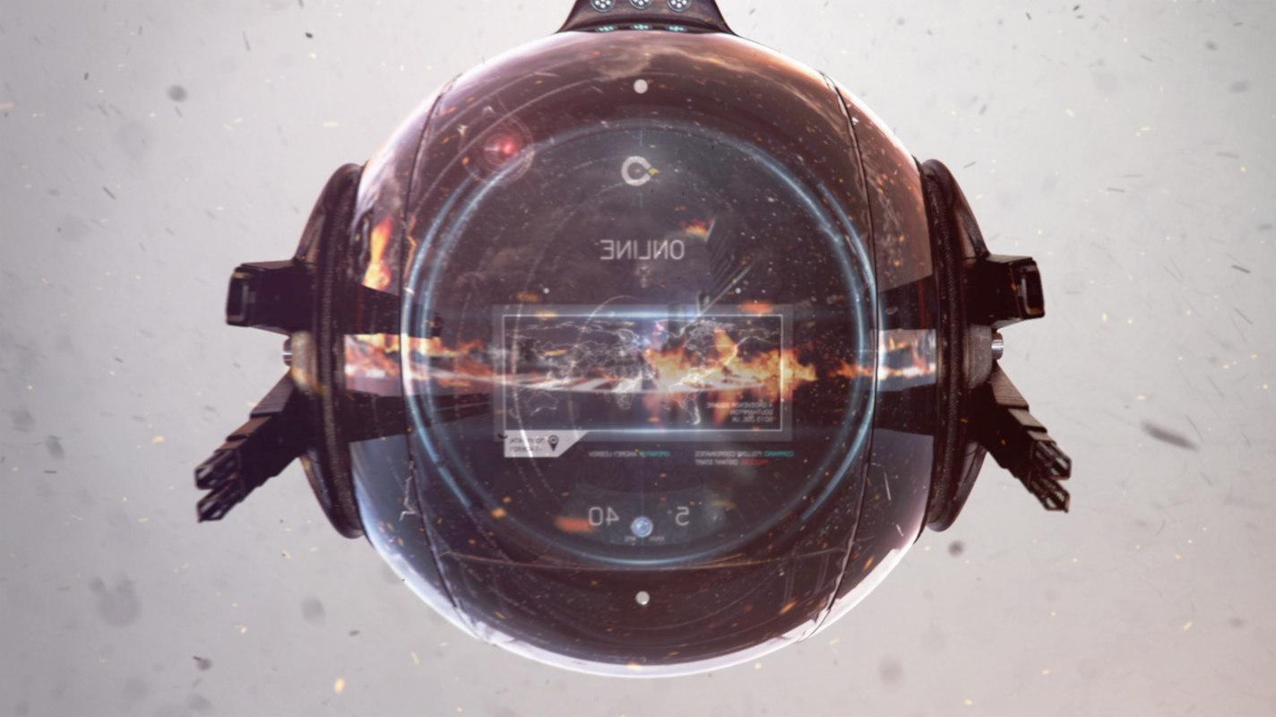 battle ship sci-fi 3d model