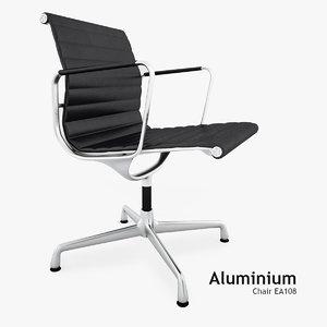3d model vitra aluminium chair ea