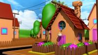 cinema4d animações casas