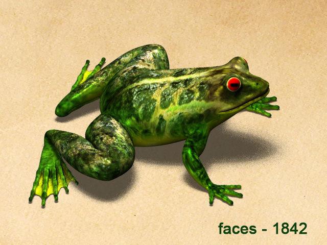 frog animation 3d model