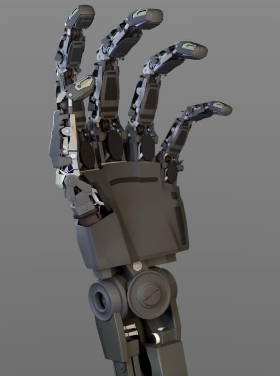 maya mechanical robotic hand
