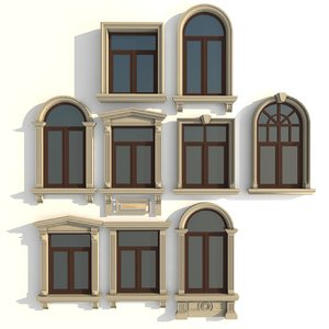 window frames 3d model