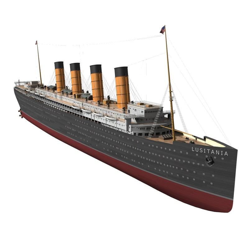 rms lusitania 3d max