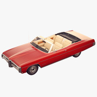 pontiac bonneville convertible 3d model