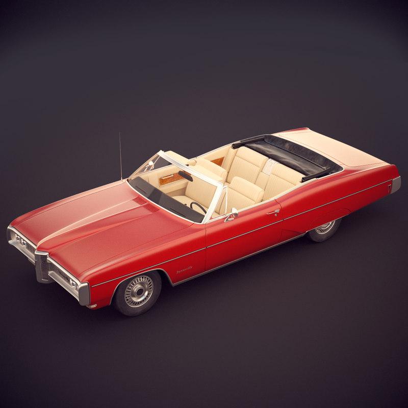 pontiac bonneville convertible 3d model