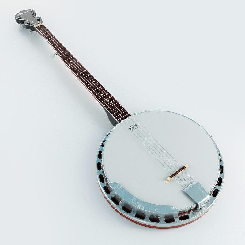 3d model of banjo