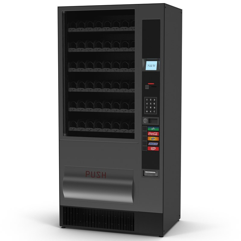drink vending machine 3d obj
