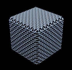 obj cube wire mesh