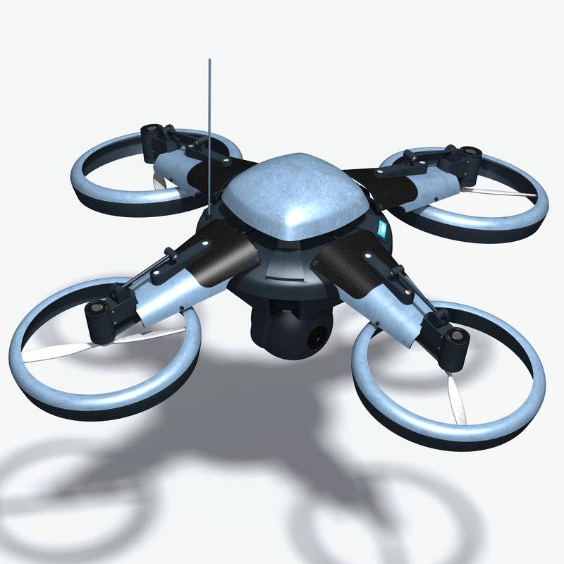 3dsmax surveillance uav drone