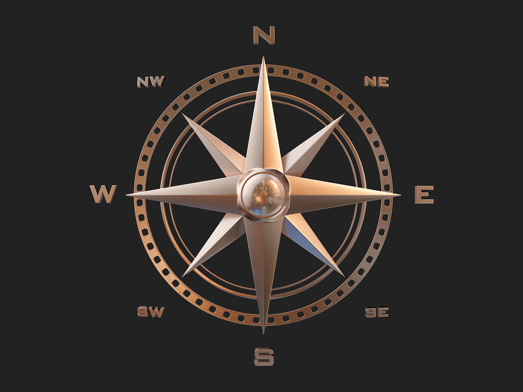 point compass rose 3d 3ds
