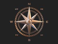 point compass rose 3d 3ds