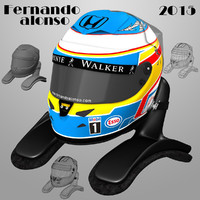 3ds max fernando alonso helmet 2015