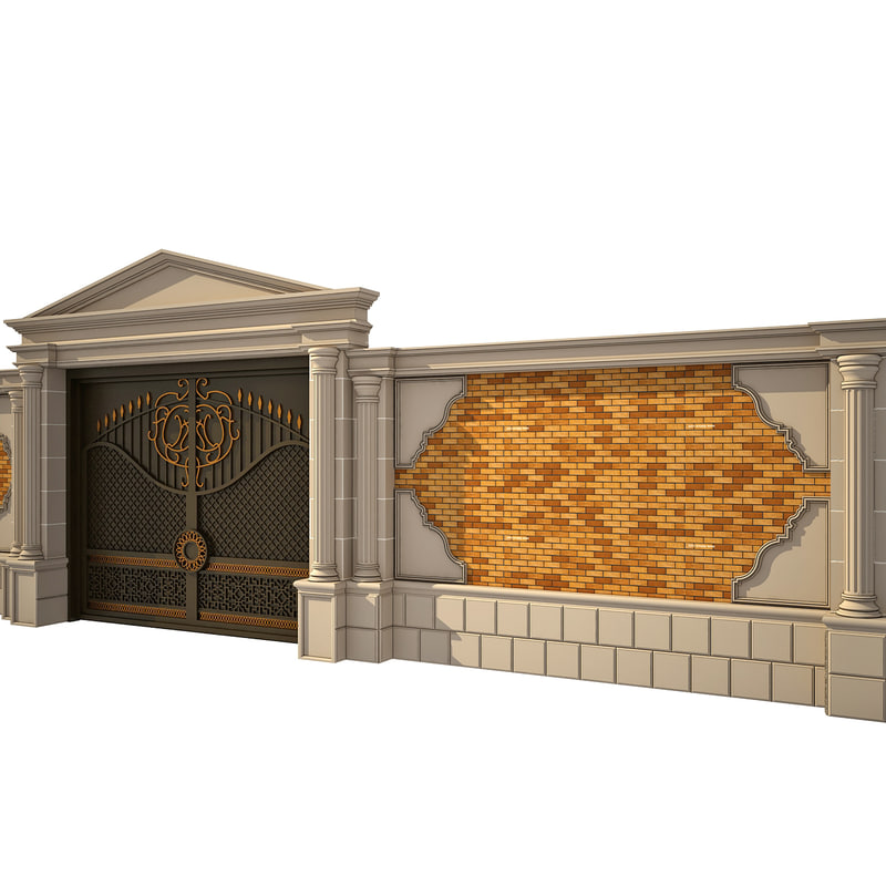 3ds max wrought iron gate