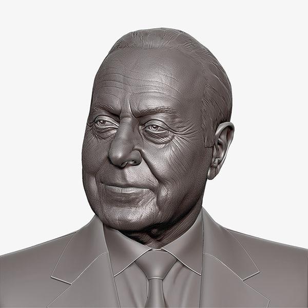 obj heydar aliyev cnc rendering
