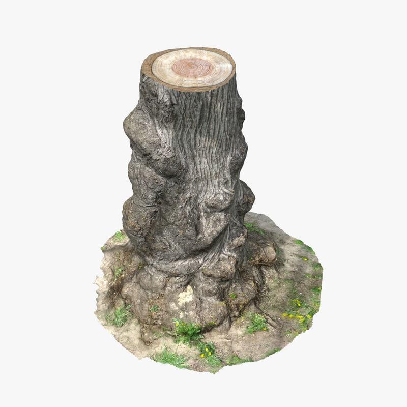 3d model tree stump 13