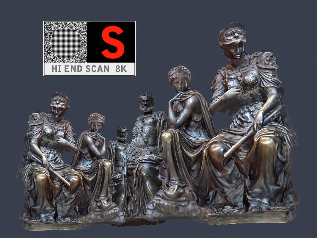 3d duomo sculpture model