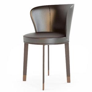 italian chair ode giorgetti 3d max