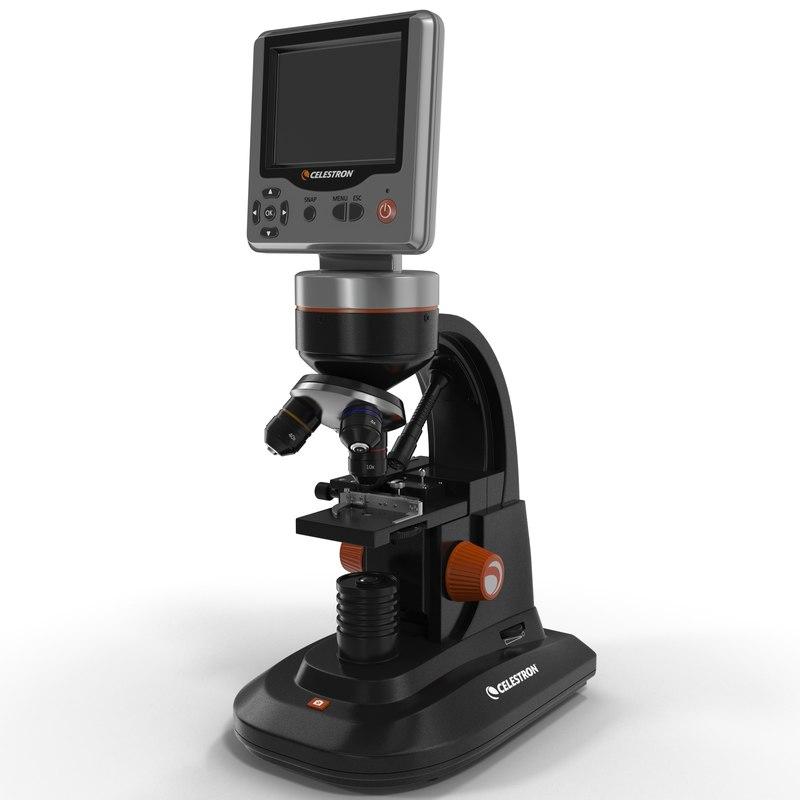 lcd digital microscope 3d model