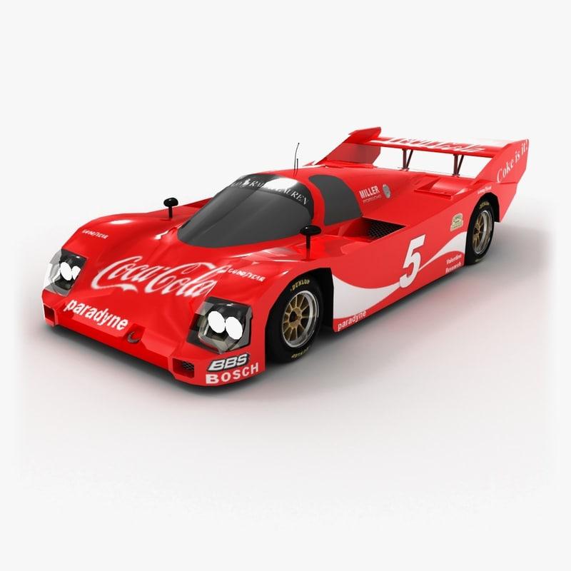 porsche 962 coca cola 3d model
