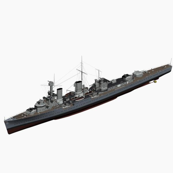 3d light cruiser koeln ww2 german model
