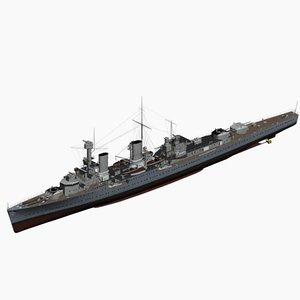 3d light cruiser koeln ww2 german model