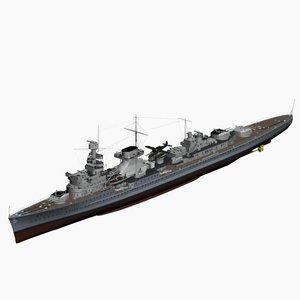 light cruiser nuernberg ww2 german max