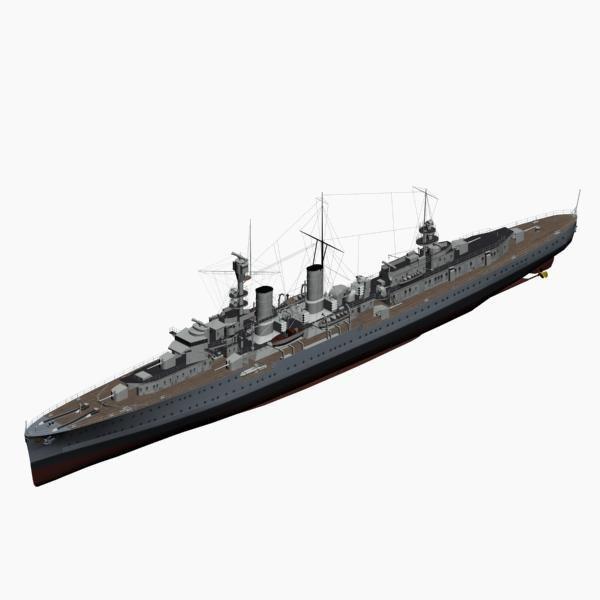 light cruiser emden ww2 german 3d max