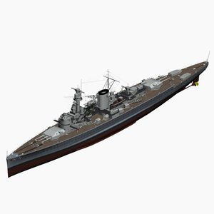 pocket battleship deutschland ww2 german 3d model