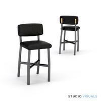 bar stool tessa 3d model