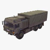man sx44 military truck 3d max