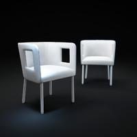 3ds max nara-armchair