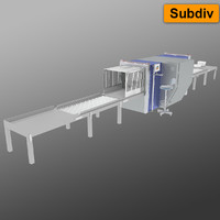 airport x-ray machine 3d model