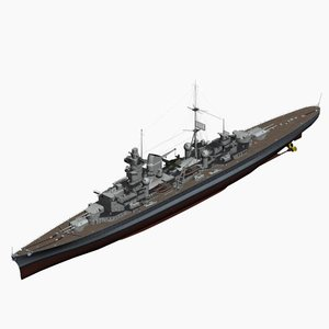 3d heavy cruiser prinz eugen model