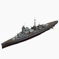 heavy cruiser hipper ww2 german 3d max