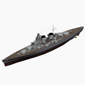 3d battleship project h39 ww2 german