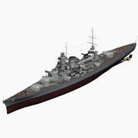 Battleship Scharnhorst German Navy WW2