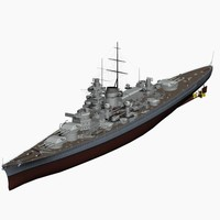 Battleship Gneisenau German Navy WW2
