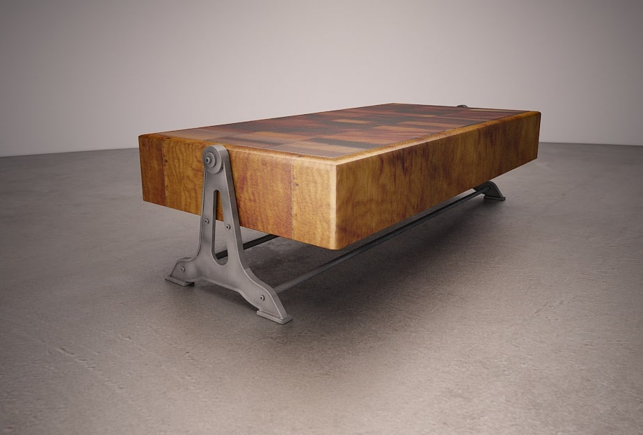 reclaimed industrial table max